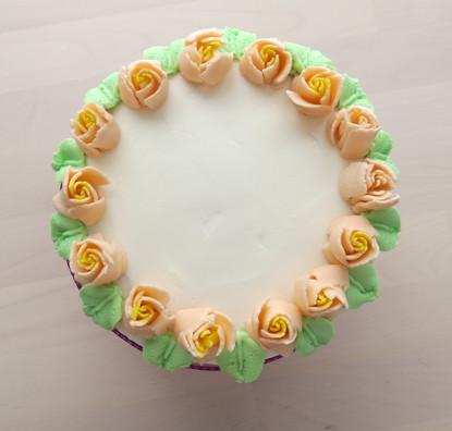 Vanilla Cake with Buttercream Roses