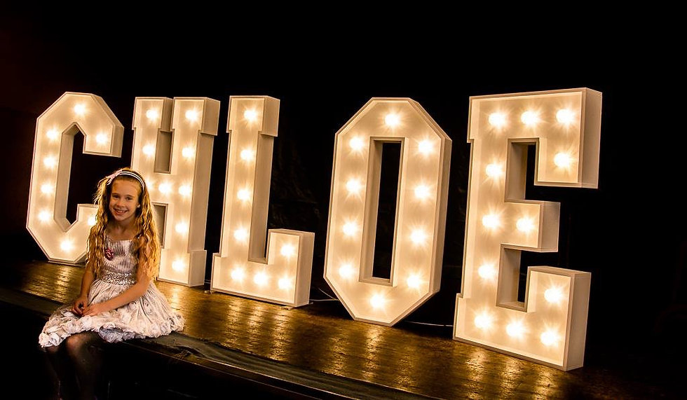 Large light up name
