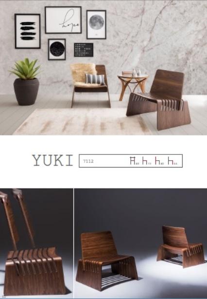 Yuki_L 80 x P 73 x A 80 x h assent 44 cm