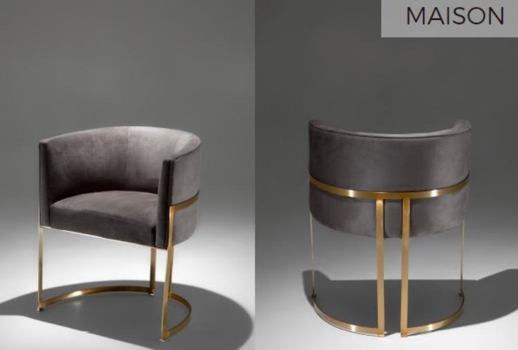 Cadeira MAISON encosto arredondado com b