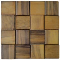 Mosaico de Madeira Itauba 88 - 32 x 32 cm