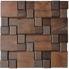 Mosaico de Madeira Itauba 84 - 32 x 32 cm