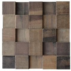 Mosaico de Madeira de Demolicao 66 - 30 x 30 cm