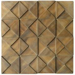 Mosaico de Madeira Itauba 77 - 28 x 28 cm