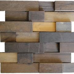 Mosaico de Madeira de Demolicao 40 - 28 x 30 cm