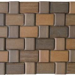 Mosaico de Madeira Itauba 64 - 30 x 24 cm