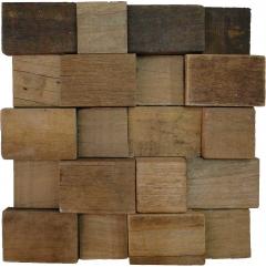 Mosaico de Madeira de Demolicao 96 - 30 x 30 cm