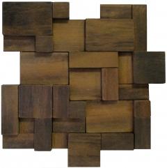 Mosaico de Madeira Itauba 369 - 27 x 27 cm