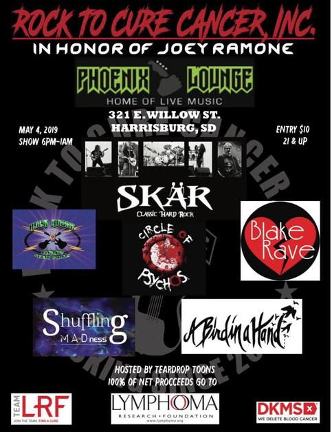 SKAR - Headlining Rock To Cure Cancer May 3rd