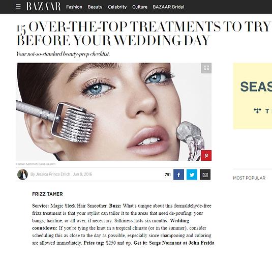 Harper's Bazaar Wedding Day Tips - perfect Wedding Hair Do