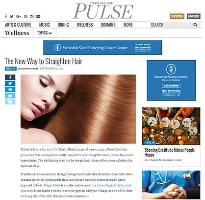 New hair straightening treatment using innovative technology