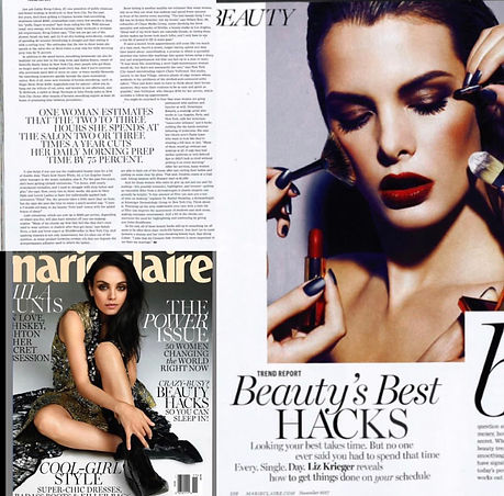 MarieClaire Beauty's Best Hacks and Beauty Trends