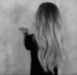 Black and white womans hair