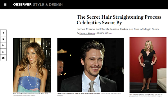 Observer Celebrity Hair Styles and Celebrity Hair Secrets