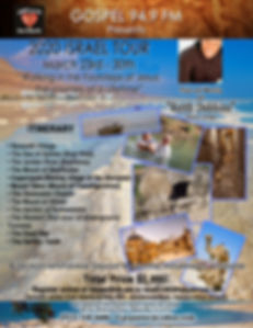 ISRAEL TOUR 2020 GOSPEL 94.9 FM FLYER  0
