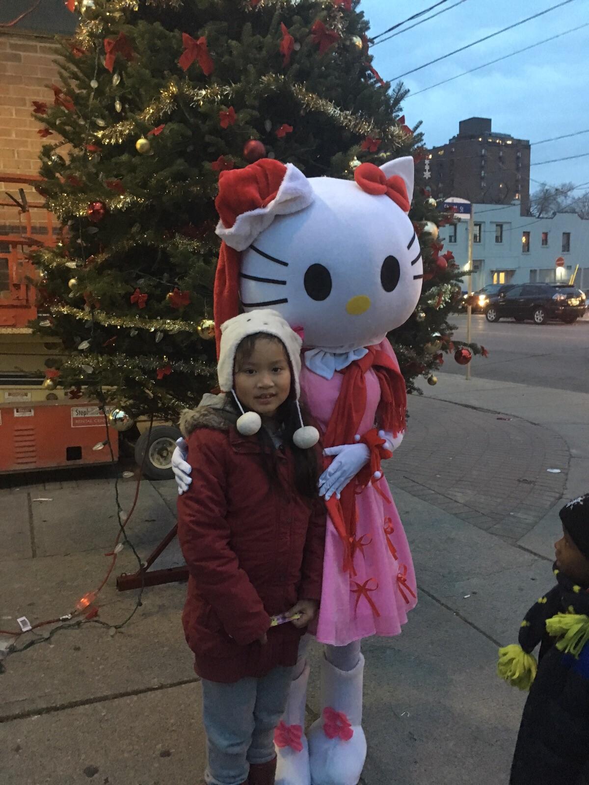 Hello Kitty at Light up the Holidays