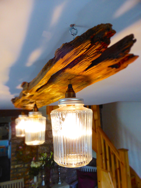 Jam Jar Ceiling Light Welsh Driftwood