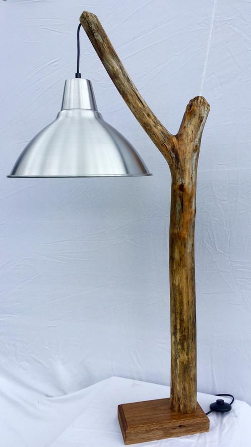 Marvelous Large Driftwood Lamp   Metal Shade