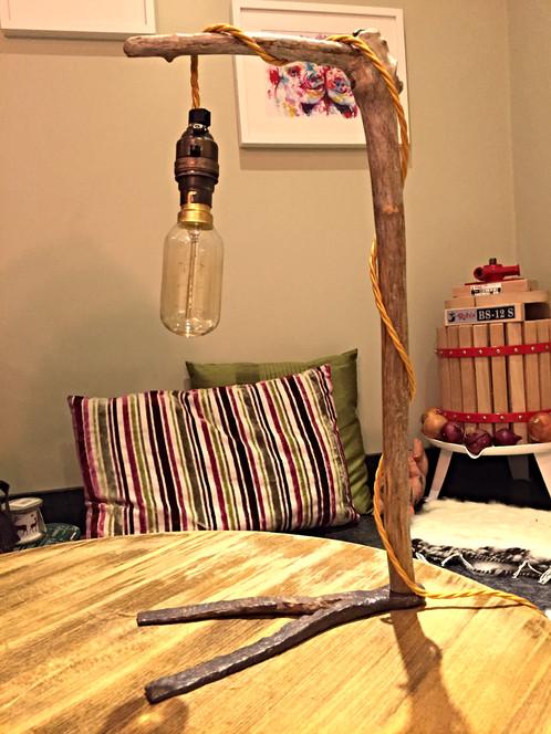 Twig Lamp driftwood twig lamp | welsh-driftwood