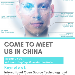 Facetrom has been invited to be a keynote in the biggest AI conference in Suzhou, China.