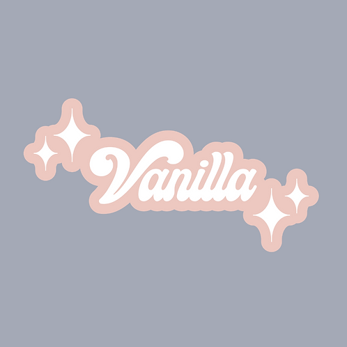 """Vanilla"" Retro Sticker"