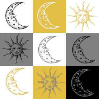 Pattern soleil et lune