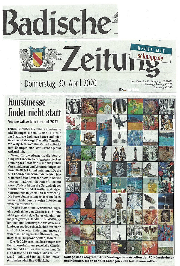 2020-----Absage der ART ENDINGEN in BADI