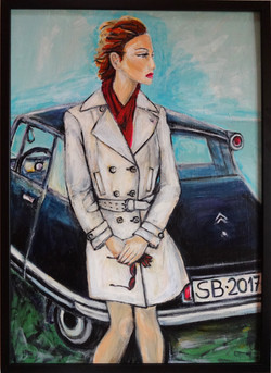 Girl with the Citroen Car