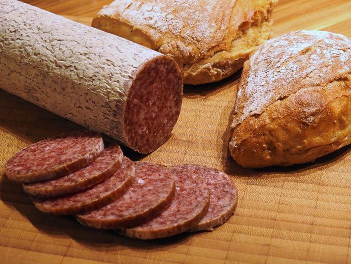 Salami, Bread