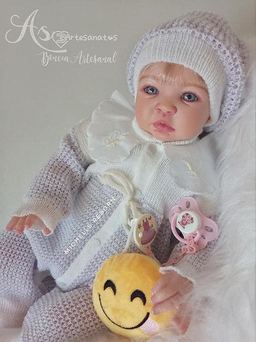 Boneca Reborn Corpo Em Tecido Menina Sid Nyl Baby Kiss
