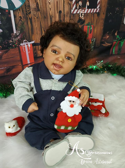 Bebê Reborn Menino Corpo Tecido Guido 55cm E 2550kg Sid Nyl Kit Liliane