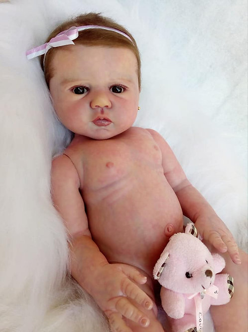 Bebe Reborn Menina Gabrielle 49cm Birdy By Sandy Faber