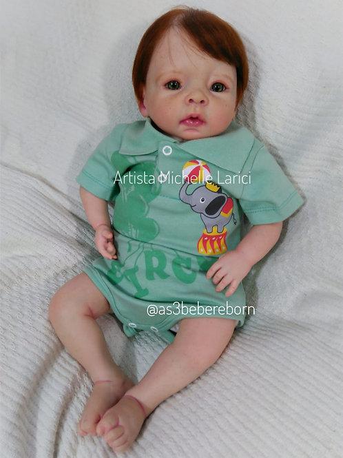 Bebê Reborn Menino 48cm e 1700kg Ruivo