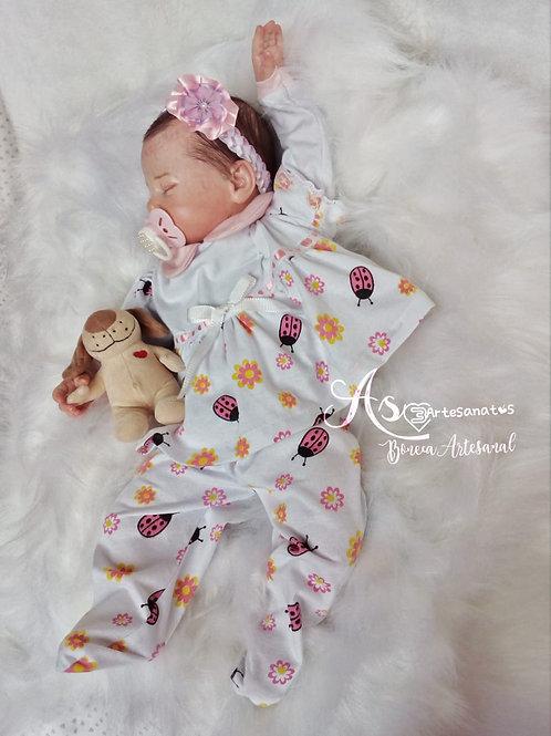 Bebe Reborn Menina 53cm Peso 2338kg Clara Olhos Fechados