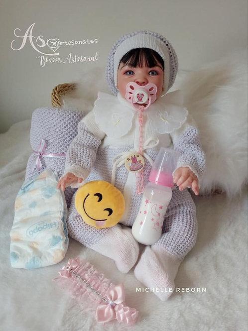 Boneca Reborn Corpo Em Tecido Menina Baby Sid Nyl Baby Kiss