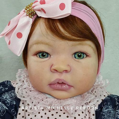 Bebê Reborn Menina Corpo em Tecido (Mel) 50 cm e 2k Sid Nyl Kit Baby Kiss