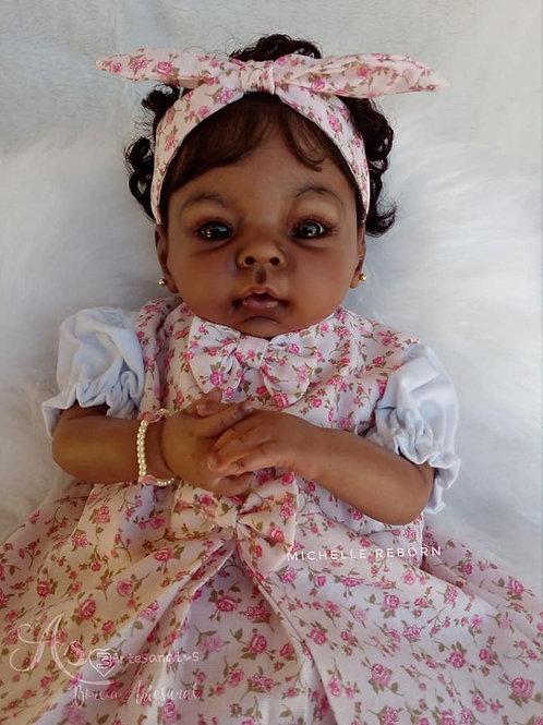 Bebê Reborn Isabela Menina Corpo Em Tecido Sid Nyl Kit MinaBela