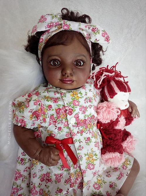 Bebê Reborn Mirelle Afro Menina Corpo Em Tecido Sid Nyl Mirelle