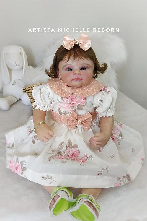 Bebê Reborn Menina 57cm 2,5kg Baby Hope Kit Éden by Marissa May Enxoval Completo