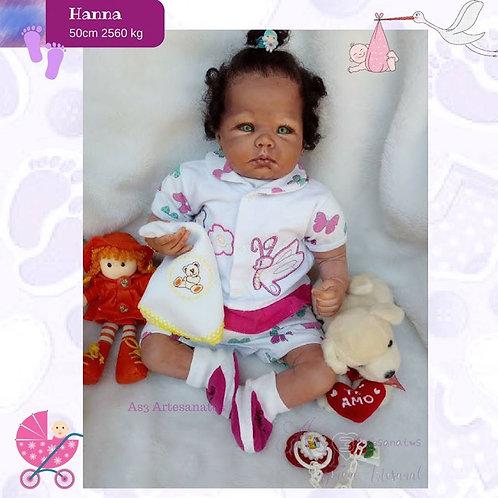 Bebê Reborn Hanna Afro Menina Corpo Em Tecido