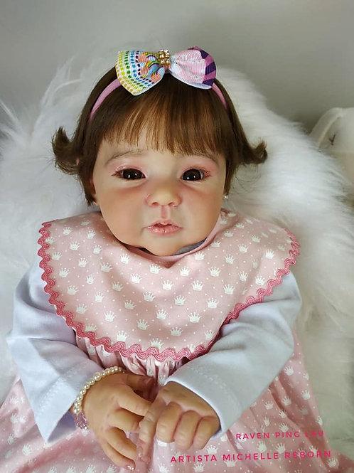 Bebe Reborn Menina Corpo Tecido 54cm E 2187kg Amélia
