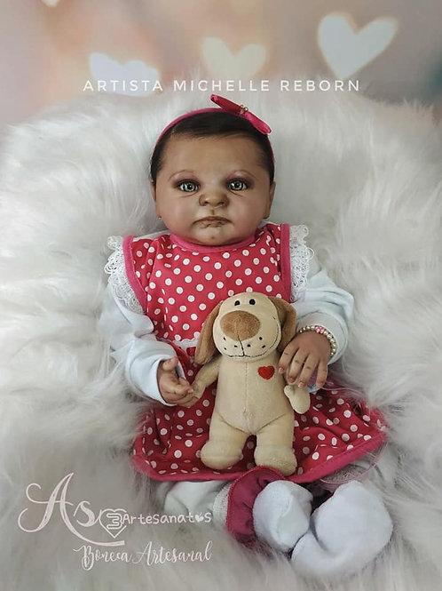 Bebê Reborn Menina Rafaela Corpo Tecido 47cm 1840kg Sid Nyl Kit Mariazinha