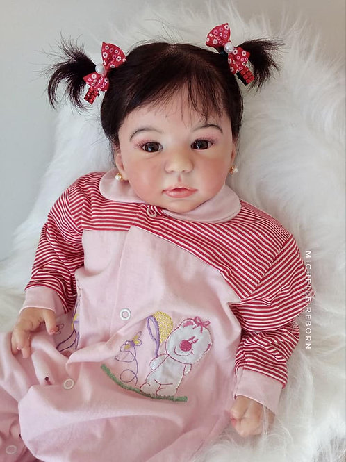 Bebe Reborn Menina Maria Flor 51cm Peso 2,150kg