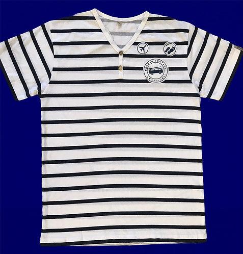 Tee shirt Bio /Mariniere colV BAJ128