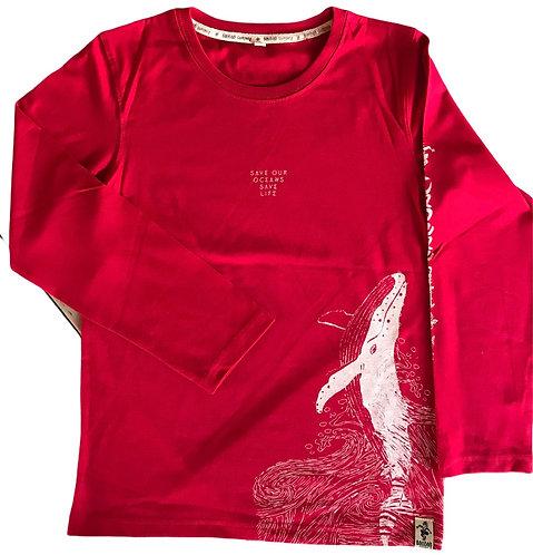 Tee shirt MLongues Bio /Baleine B002