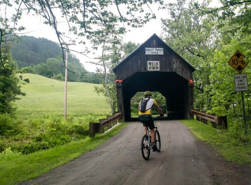 Entering one of the Milk Run's 3 covered bridges