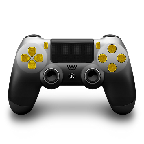 Manette PS4 custom White-Gold