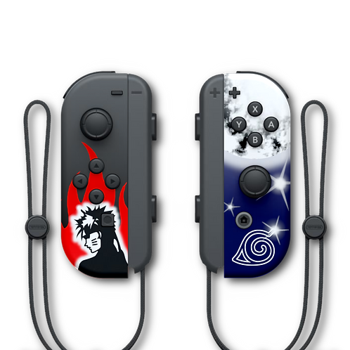 Manettes Switch custom Naruto par ESCONTROLLERS