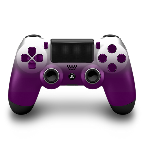 Manette PS4 custom Purple-White