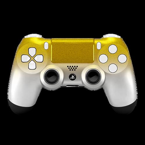 Manette PS4 custom White-Gold
